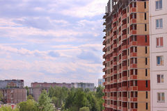 Residential buildings and buildings under construction Royalty Free Stock Photo