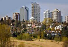 Residential buildings in Burnaby Royalty Free Stock Photo
