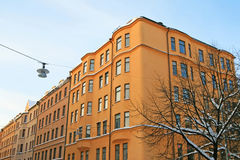 Residential buildings in the center of Stockholm Stock Photography