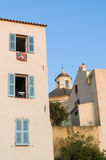 Residential buildings in the citadel of Calvi Stock Photos