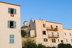 Residential buildings in the citadel of Calvi Stock Photography