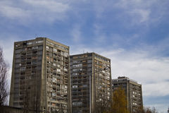Residential buildings in croatia Stock Photography