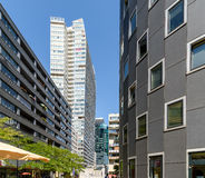 Residential Buildings In Donau City, The New Part Of Vienna Stock Photography
