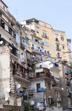 Residential buildings, downtown Naples, Italy. Homes in Spanish Quarters, a poor area of Naples including a population of some 14,000 inhabitants, showing living Stock Photo
