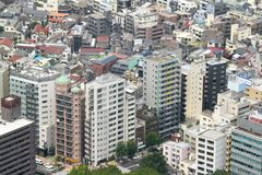 Residential buildings in downtown Tokyo Stock Photography