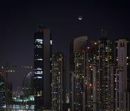 Residential buildings in Dubai at night Stock Photos