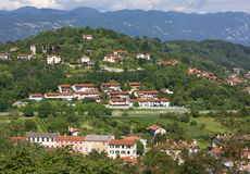 Residential Buildings on the Hills around Gorizia Royalty Free Stock Image