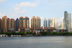Residential buildings beside HuangPu river, Shanghai Stock Photography