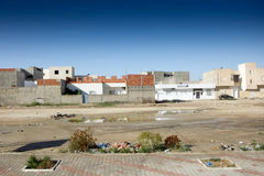 Residential buildings in Kairouan Royalty Free Stock Photo