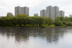 Residential buildings in Lianozovo district in Moscow Royalty Free Stock Photo