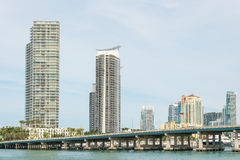 Residential buildings on Miami Beach Stock Photo
