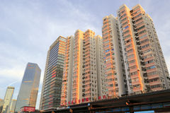 Residential buildings in the morning Royalty Free Stock Photography