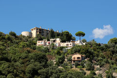 Residential buildings on mountain top Stock Photos