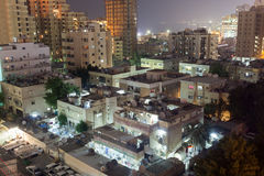 Residential buildings at night Royalty Free Stock Photos