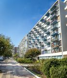 Residential Buildings at Nueva Marina Street - Vina del Mar, Chile royalty free stock photography