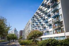 Residential Buildings at Nueva Marina Street - Vina del Mar, Chile stock photo