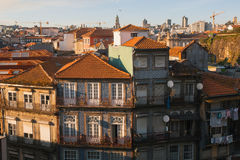 Residential buildings in the old part of Porto. Travel. Royalty Free Stock Photo