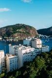 Residential buildings overlooking Botafogo Bay, Rio de Janeiro, Brazil.  stock image