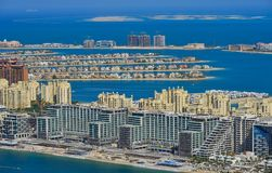 Residential buildings on Palm Jumeirah royalty free stock photo