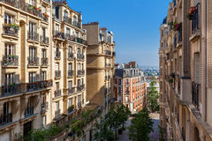 Residential buildings in Paris, France. Royalty Free Stock Photo