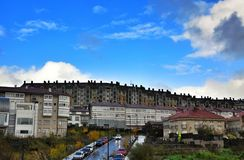 Residential buildings of Porto do Son Spain Stock Photo