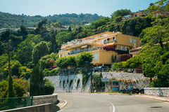 Residential buildings in the suburbs of the city of Cap-d'Ail in. Cap-d'Ail, France - June 28, 2015: Residential buildings in the suburbs of city Stock Images