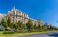 Residential buildings in Unirii Boulevard - Bucharest Stock Photos