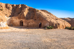 Residential caves of troglodyte in Matmata, Tunisia, Africa Royalty Free Stock Photography