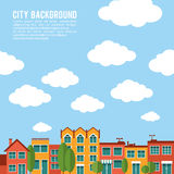 Residential city houses vector background Stock Photos