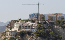 Residential on cliffs over the sea view in mallorca Stock Photos