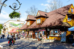 Residential and commercial building, Zakopane Royalty Free Stock Image
