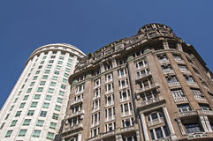 Residential or Commercial Buildings in City Downtown Royalty Free Stock Photography