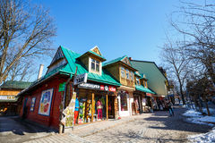Residential and commercial buildings in Zakopane Royalty Free Stock Photos
