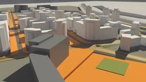 Residential complex (3d rendering). Residential Complex Irkutsk (3d rendering Royalty Free Stock Image