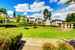 Residential complex with beautiful landscape Stock Image