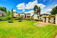 Residential complex with beautiful landscape Royalty Free Stock Image