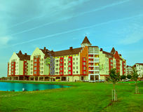 Residential complex. German village in Krasnodar Royalty Free Stock Photo