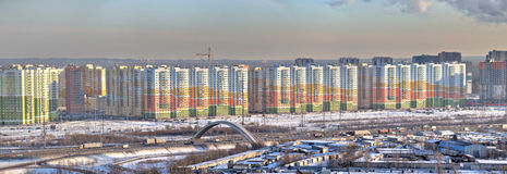 Residential complex, real estate in new buildings, Saint Petersb Stock Photo