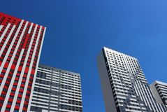 Residential complex Red star royalty free stock images