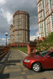 Residential complex Scarlet sails, Moscow Royalty Free Stock Image