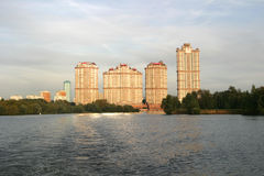 Residential complex Scarlet sails, Moscow Royalty Free Stock Photos