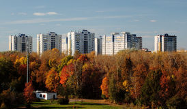 Residential complex Youth Avtozavodsky district of Nizhny Novgorod. Views residential complex Youth Avtozavodsky district of Nizhny Novgorod from the Ferris Royalty Free Stock Photography
