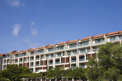 Residential Condominium. Photo of a Residential Condominium With Clear Blue Sky Stock Photography