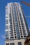 Residential condominium high. Rise under construction in Seattle Royalty Free Stock Image