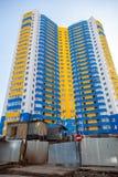 Residential condominium high rise under construction Stock Images