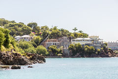 Residential Construction on Rocky Tropical Coast Royalty Free Stock Photography