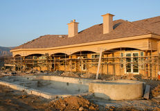 Residential Construction Site Stock Photos
