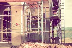 Residential Construction Site Royalty Free Stock Photography