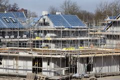 Residential construction site in the Netherlands Royalty Free Stock Photos