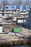 Residential construction site in the Netherlands Stock Photos